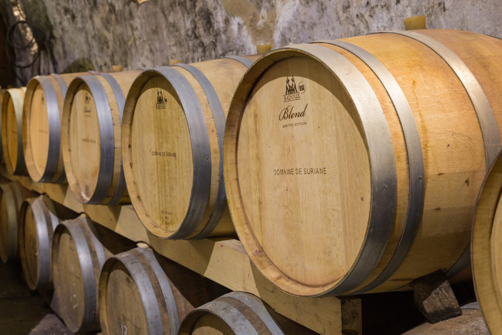 Domaine de Suriane - barrels of wine